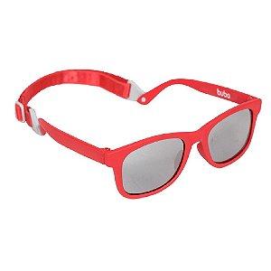 Óculos de Sol Baby Vermelho Com Alça Ajustável Buba