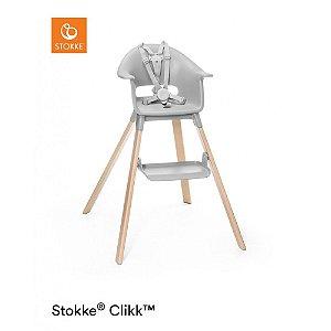 Cadeira de Alimentação com Bandeja e Cinto Stokke Clikk Cinza