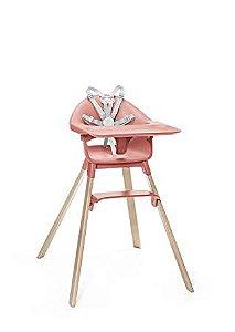 Cadeira de Alimentação com Bandeja e Cinto Stokke Clikk Coral