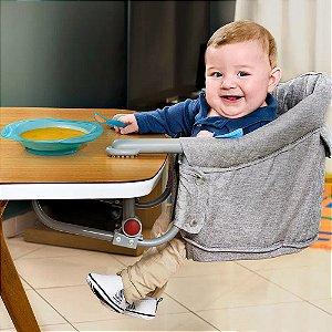 Cadeira de Alimentação para Mesa Cinza Multikids