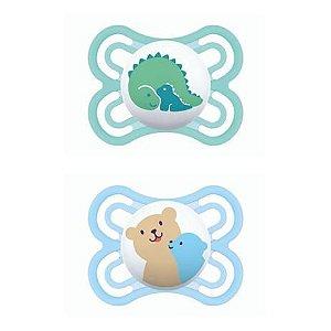 Chupeta MAM Perfect 0-6 meses Azul (embalagem dupla)