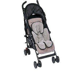 Almofada para bebê conforto cinza com preto Clingo