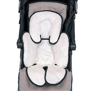 Almofada para bebê conforto branco com preto Clingo