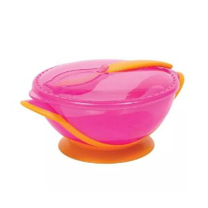Kit refeição com colher rosa Buba