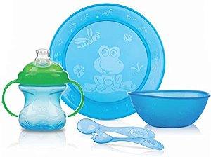 Kit de Alimentação 5 peças Nuby Azul