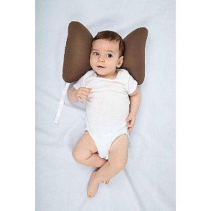Suporte de cabeça Borboleta Baby Pil Marrom
