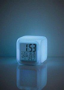 Luz Noturna Color Fun com relógio
