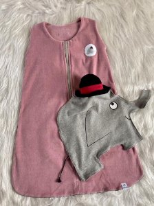 Saco de Dormir Infantil Plush Rosa