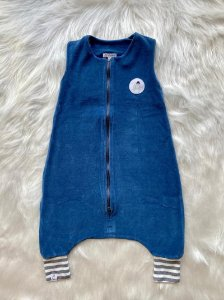 Saco de Dormir Infantil Com Pé Plush Marinho (Tamanho 1)
