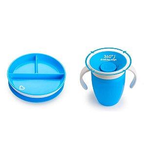 Kit IA Fran (Prato e Copo 360) Azul