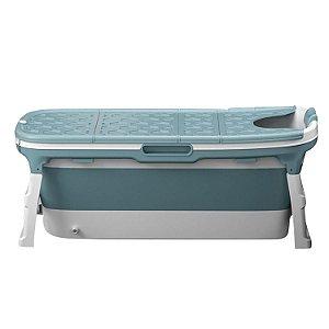 Banheira Grande Azul Baby Pil com Cover