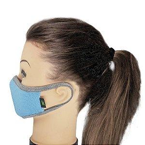 Máscara Azul Claro Com Mescla - Tamanho Kids