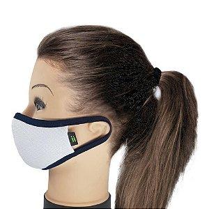 Máscara Branca Com Marinho - Tamanho Juvenil