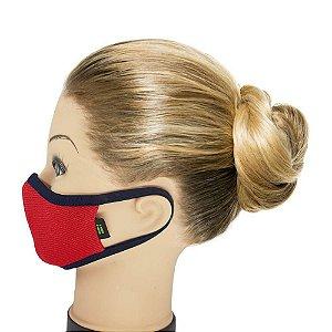 Máscara Vermelha Com Marinho- Tamanho- Juvenil