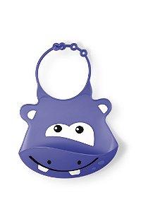 Babador de Silicone Cata Migalha Silybib Hipopótamo
