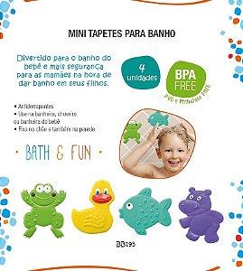 Mini Tapetes Para Banho Bath & Fun 4 Pcs Multikids