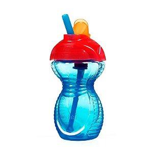 Copo com Canudo Click Lock Munchkin Azul