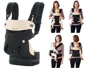 Canguru Baby Carrier Ergobaby - Coleção 360 - BlackCamel