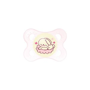 Chupeta MAM Girls Night 0-6 meses de silicone (Brilha no escuro)
