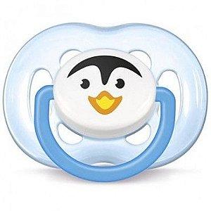 Chupeta Philips Avent Silicone 6 a 18 Meses - Pinguim Azul