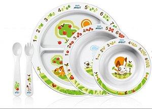 Kit para Alimentação de Bebês 6m+ (Mealtime Gift Set Avent)