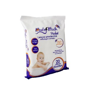 Lenços Umedecidos Baby Bath Sem Perfume - Embalagem de bolso