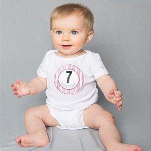 18 adesivos para registrar os momentos do bebê - Modelo Girl