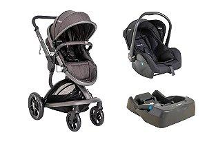 Carrinho Travel System Quantum Kiddo com Bebê Conforto e Base