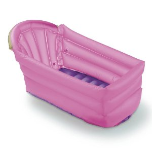 Banheira Inflável Bath Buddy Rosa Multikids Baby