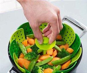 Cozedor de alimentos a vapor retrátil