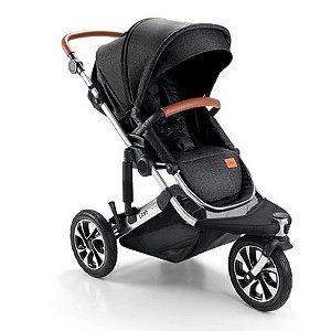 Carrinho de Bebê Litet Jet 0-15Kgs Preto