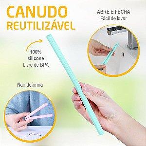 Canudo Reutilizável Abre e Fecha Verde/ Rosa Safety 1st