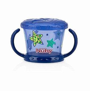 Porta Lanchinho (Biscoitinhos) Decorado Azul Nuby