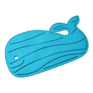 Tapete de Banho Baleia Moby Antiderrapante Azul Skip Hop