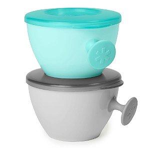 Kit Bowls Easy Grab Cinza e Azul Skip Hop