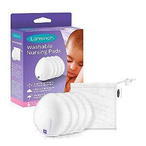 Absorvente para seios lavavéis Lansinoh Ultimate com 4 unidades