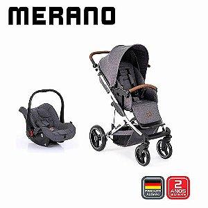 Merano 4 ASPHALT Diamond (Carrinho + Bebê Conforto Risus + Shopping Bag) ABC Design