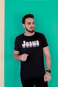 Camisa Jesus 3D - cor preta