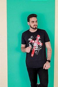 Camiseta Leão Cruz (cor preta)