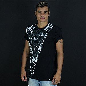 Camisa Kyoto preto/branco