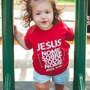 Camisa inf. nome sobre todo nome vermelha