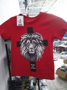 Camisa infantil king of kings vermlha