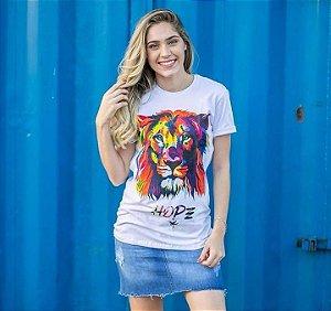 Longline Leão cromia unissex (BRANCA )