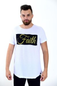 Longline faith aplique