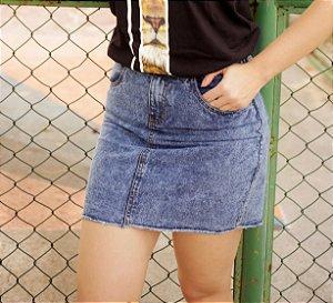 Saia jeans - escura