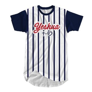 Camisa yeshua listras Cruz/coração