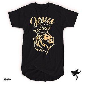 Longline unissex lion of judah (preta)
