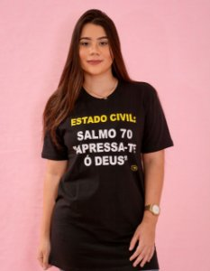 Camisa estado civil ( salmos 70 ) unissex