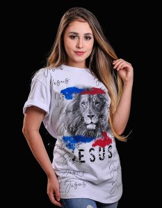 LONGLINE JESUS LEÃO (BRANCA) UNISSEX