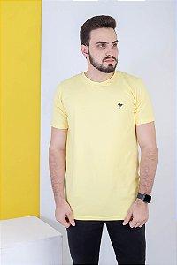 Camisa lisa Hasum ( cor amarela ) tecido coton Especial (unissex)